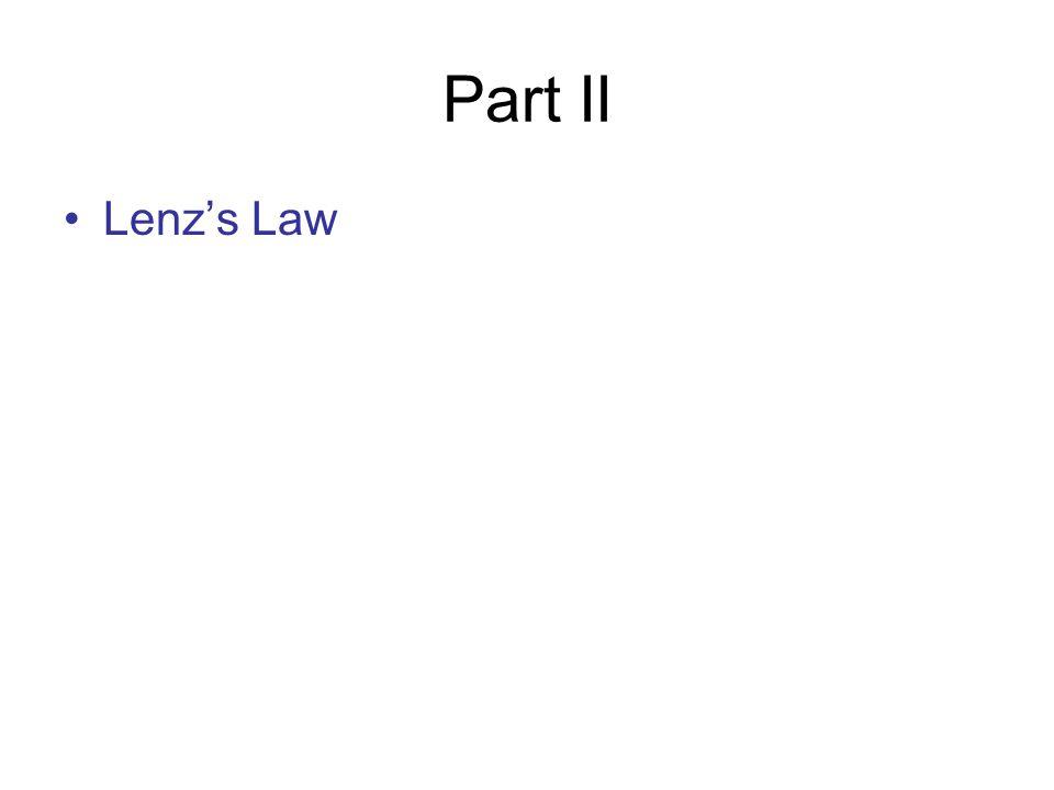 Part II Lenz's Law