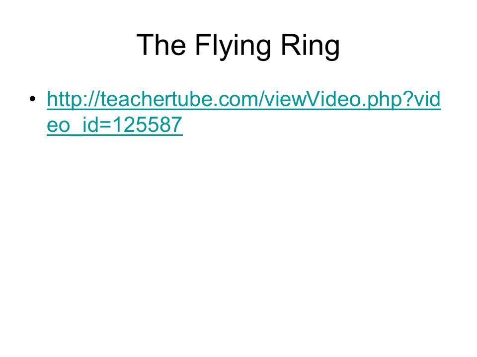 The Flying Ring http://teachertube.com/viewVideo.php?vid eo_id=125587http://teachertube.com/viewVideo.php?vid eo_id=125587