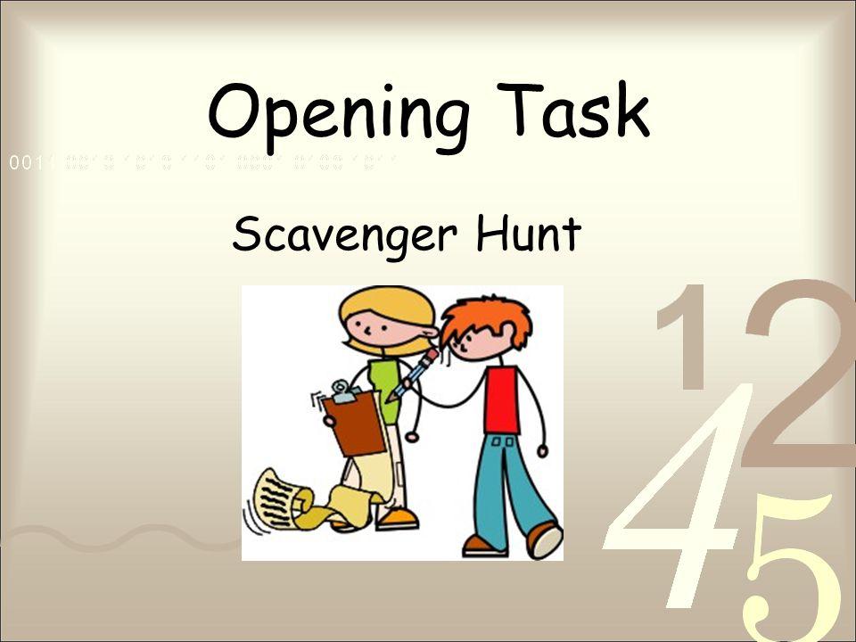 Opening Task Scavenger Hunt