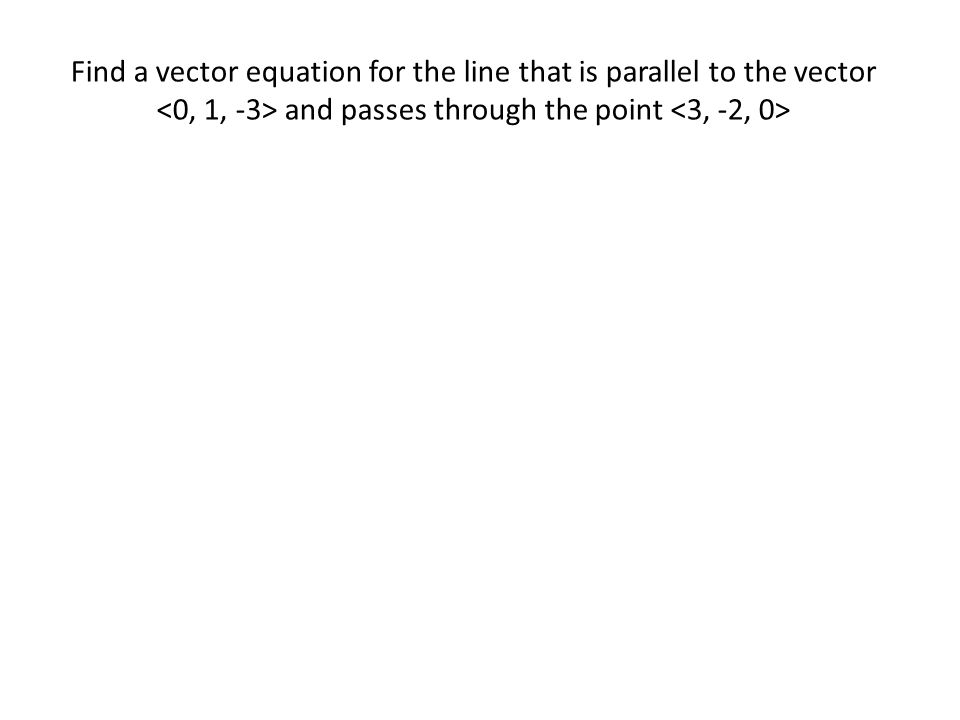 Given any plane, there must be at least one nonzero vector n = that is perpendicular to every vector v parallel to the plane.