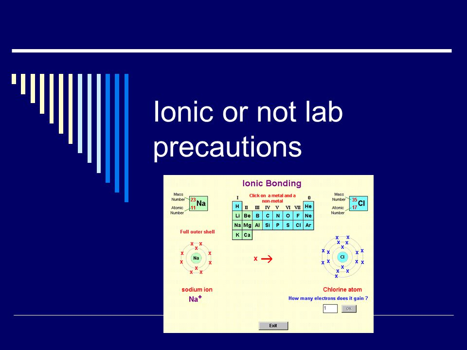 Ionic or not lab precautions