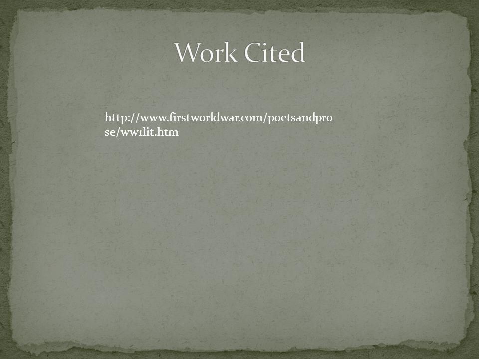 http://www.firstworldwar.com/poetsandpro se/ww1lit.htm