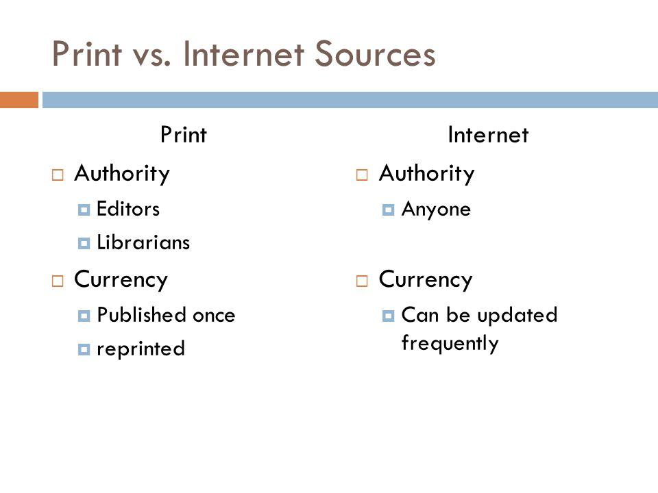 Print vs.