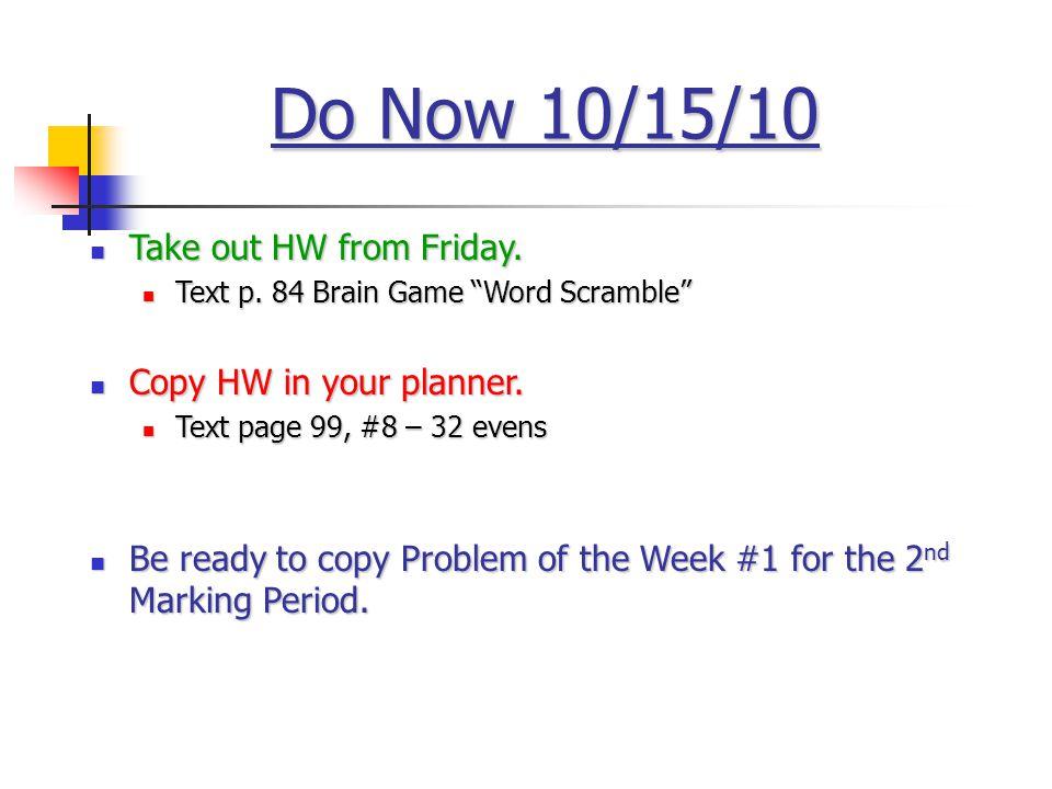 Homework Brain Game text p.