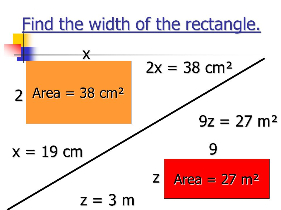 Find the width of the rectangle.