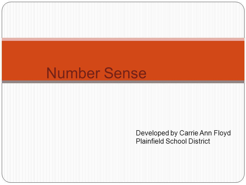 Objectives : During this workshop we will: Review the revised Preschool Math Standards that relate to number sense.