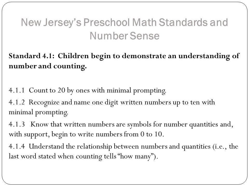 Standard 4.1.4(c) Subitizing (cont.) http://earlymath.erikson.edu/matching-quantity-with-child-3/