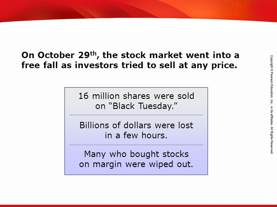 TEKS 8C: Calculate percent composition and empirical and molecular formulas. On October 29 th, the stock market went into a free fall as investors tri