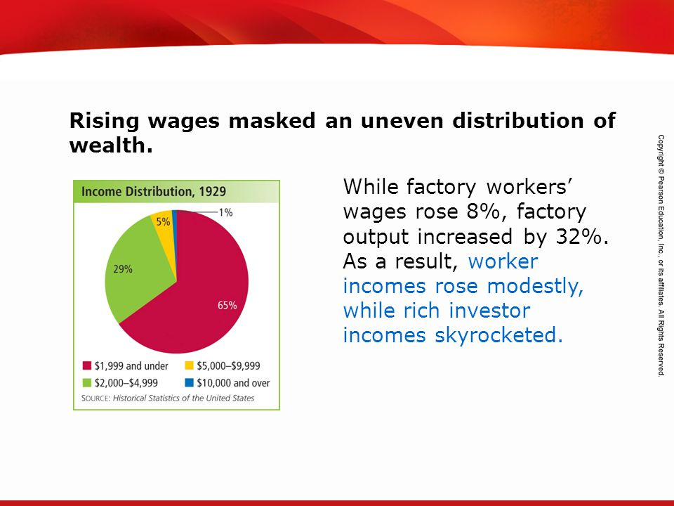 TEKS 8C: Calculate percent composition and empirical and molecular formulas. Rising wages masked an uneven distribution of wealth. While factory worke