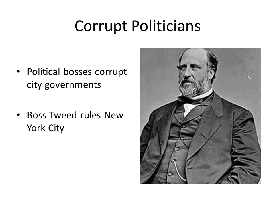 Reformers in the Press Thomas Nast draws political cartoons exposing the corruption of Boss Tweed