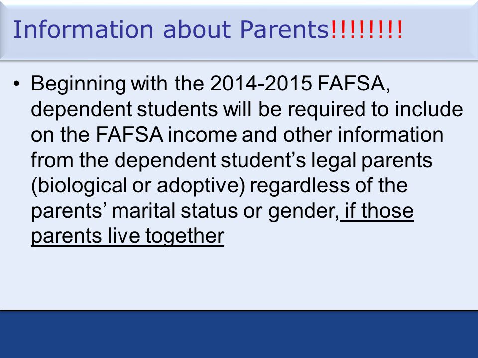 Information about Parents!!!!!!!.