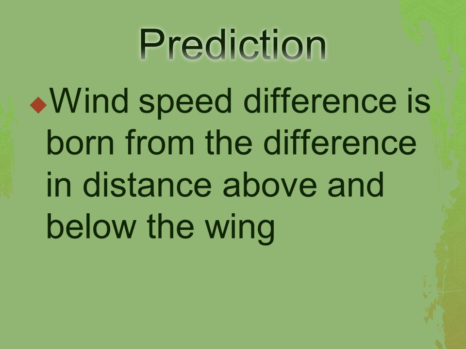  Wind speed difference is born from the difference in distance above and below the wing
