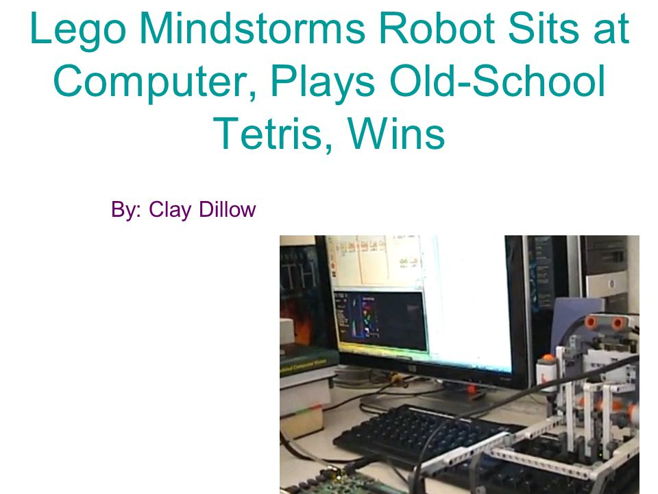 Who.Lego Mindstorms robot playing the Russian invented game Tetris.