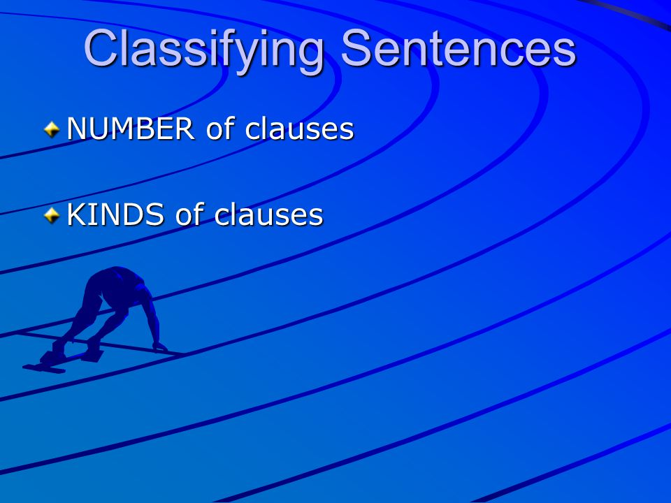 NUMBER of clauses KINDS of clauses Classifying Sentences