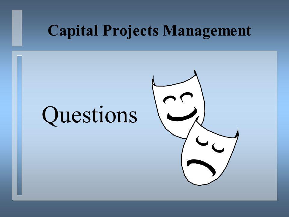 Capital Projects Management Questions