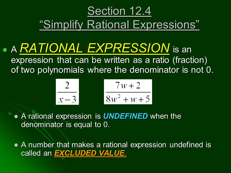 Find the excluded values, if any, of the expression.