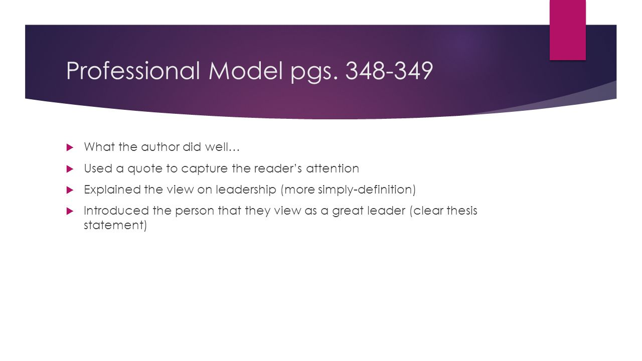 Professional Model pgs.