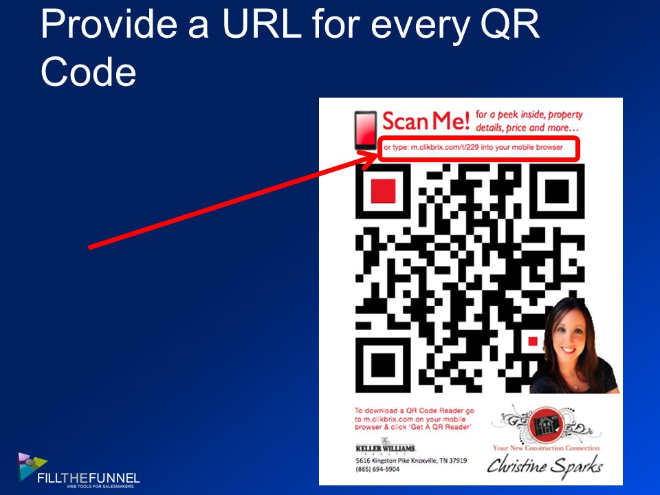 Provide a URL for every QR Code