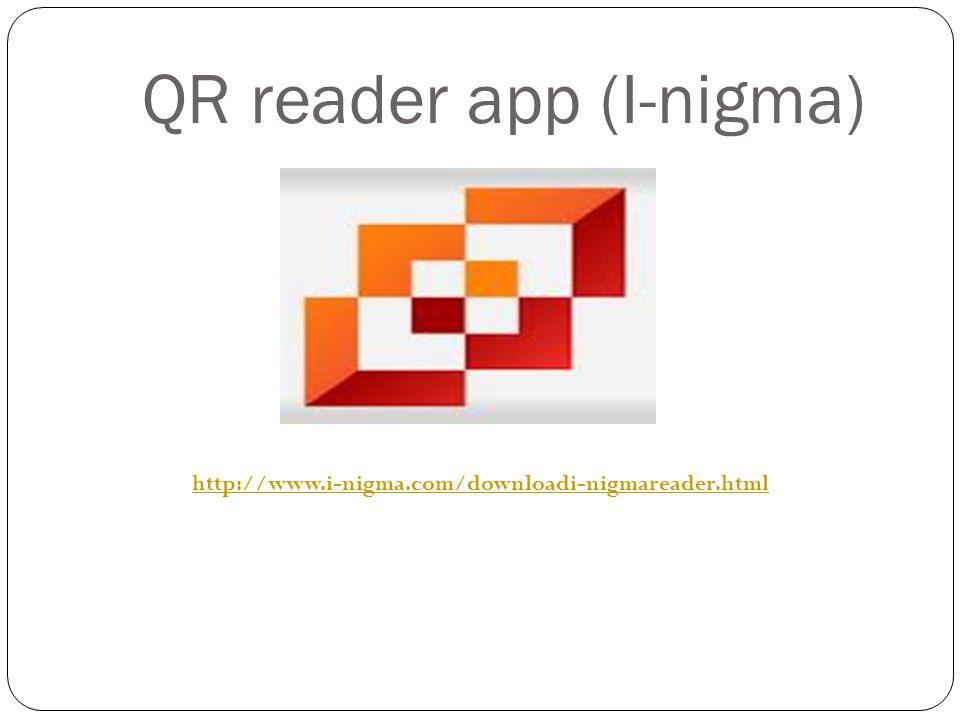 QR reader app (I-nigma) http://www.i-nigma.com/downloadi-nigmareader.html
