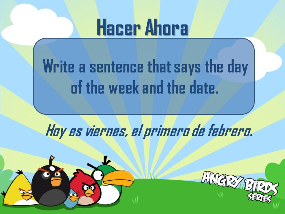 What clothing do you wear in the summer? Write 3 things in Spanish.