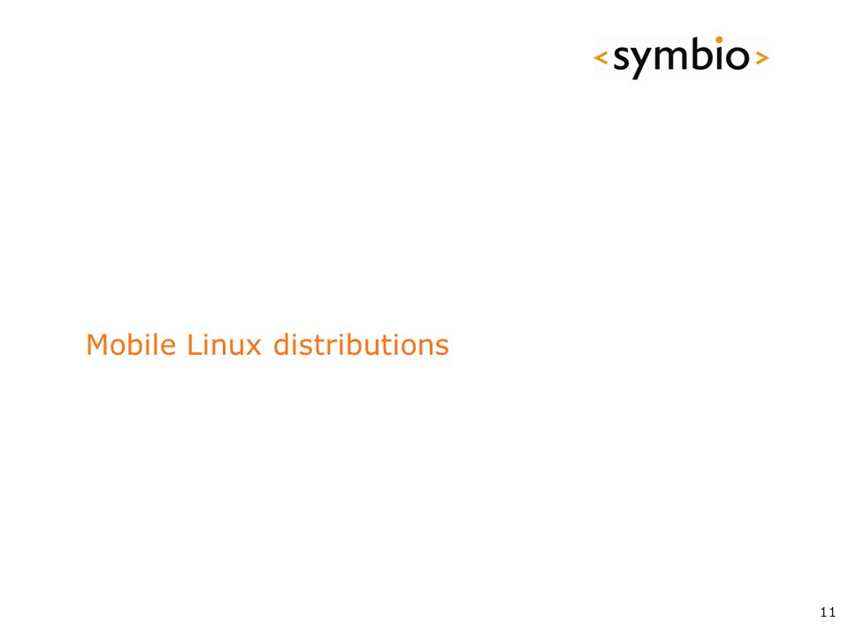 Mobile Linux distributions 11