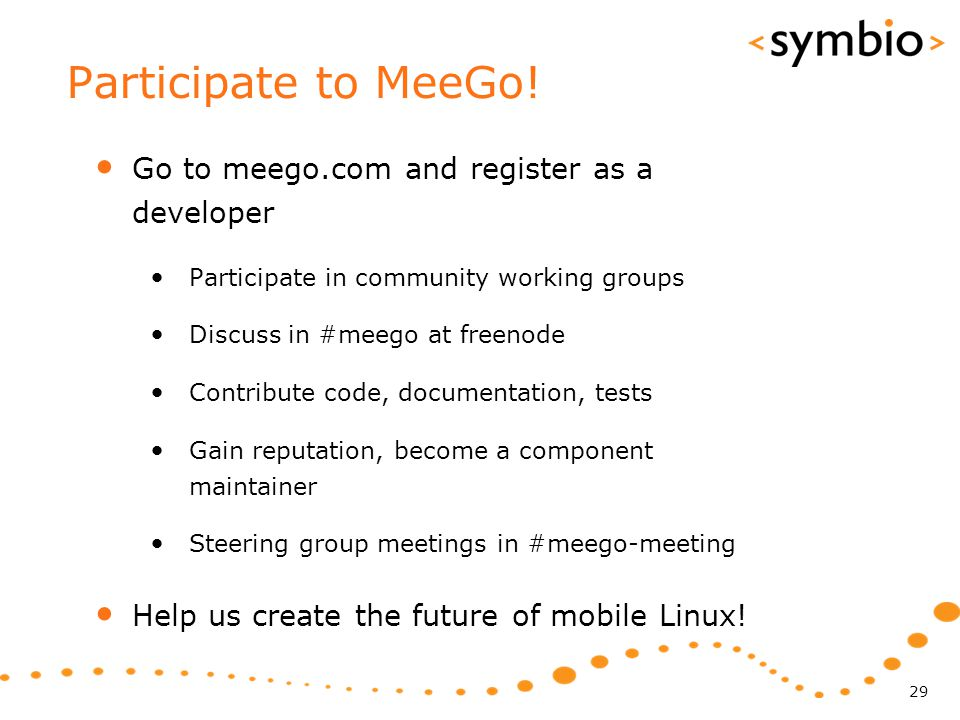 Participate to MeeGo.