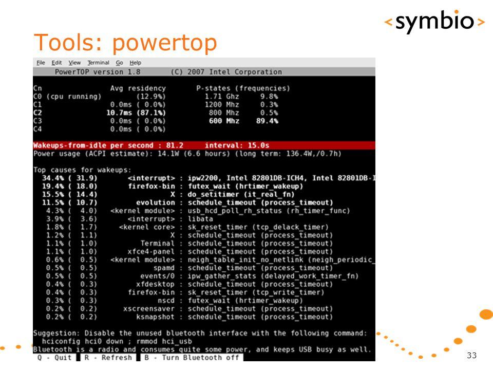 Tools: powertop 33