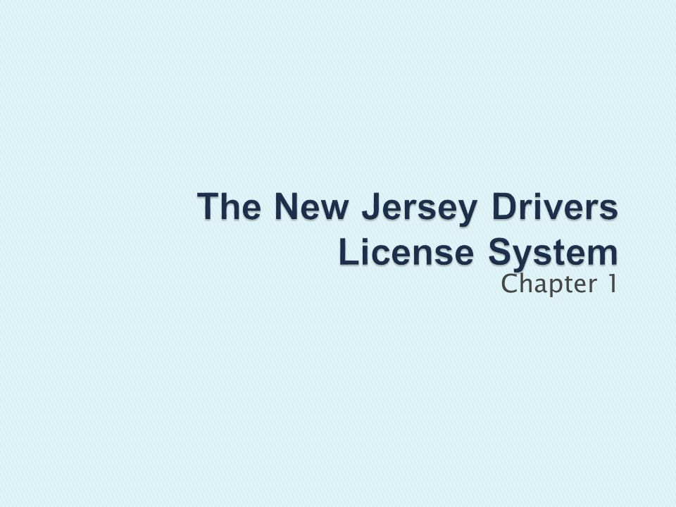 Must have an adult who is at least 21 and has had a NJ driver license for at least 3 years Must have an adult who is at least 21 and has had a NJ driver license for at least 3 years Only one passenger is permitted in vehicle, unless parent or guardian is present Only one passenger is permitted in vehicle, unless parent or guardian is present All occupants wear seat belts All occupants wear seat belts Driver may not use cell phone on the road Driver may not use cell phone on the road Provisional and special learns permit may only drive between 5am-11pm Provisional and special learns permit may only drive between 5am-11pm