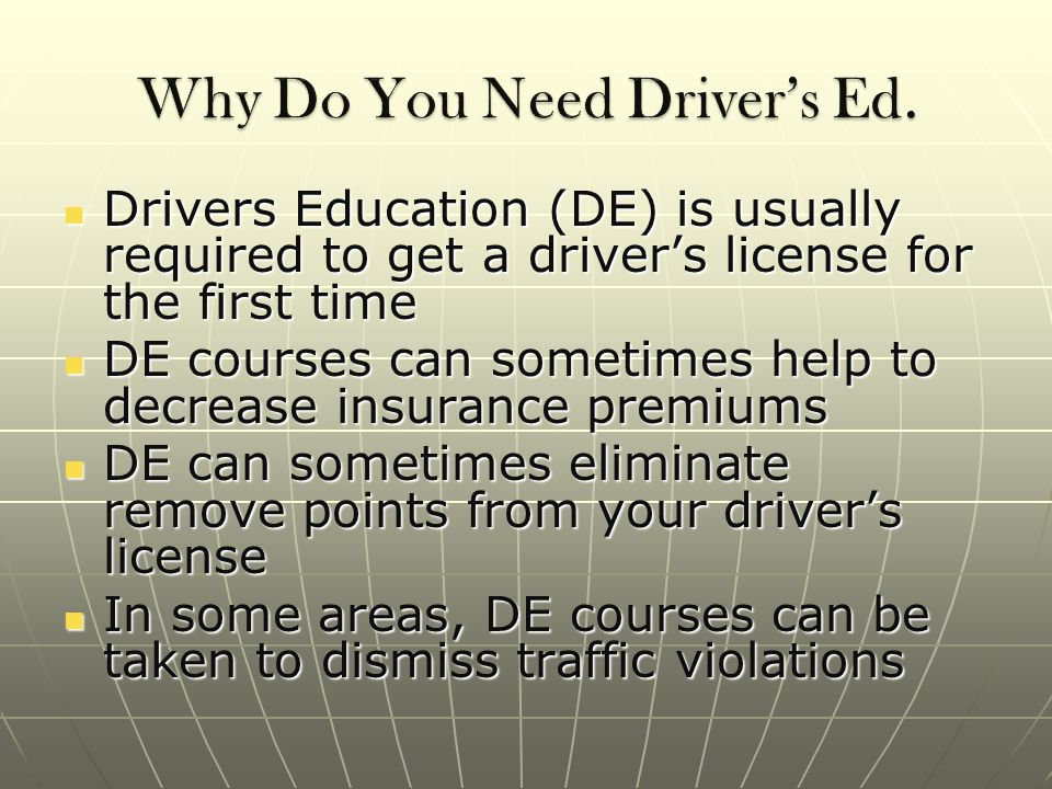 DE courses can teach safety tips for new drivers DE courses can teach safety tips for new drivers DE courses increase the awareness of driver's everywhere DE courses increase the awareness of driver's everywhere DE will improve a driver's confidence DE will improve a driver's confidence DE can help drivers overcome their fear of driving DE can help drivers overcome their fear of driving