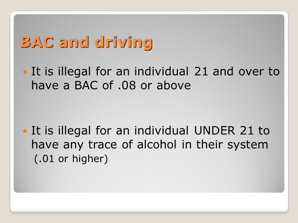 Refusal to take a Breath Test Refusal to take a breath test is equal to driving with a BAC of.10% for a first offense Penalty: ◦7 months to one year of loss of license ◦MVC surcharge of $1,000 per year for 3 years ◦Failure to pay the surcharge will result in an indefinite loss of license until it is paid