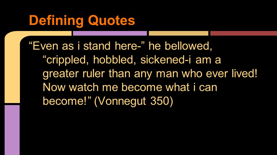"""""""Even as i stand here-"""" he bellowed, """"crippled, hobbled, sickened-i am a greater ruler than any man who ever lived! Now watch me become what i can bec"""