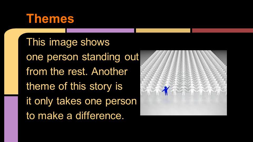 This image shows one person standing out from the rest.