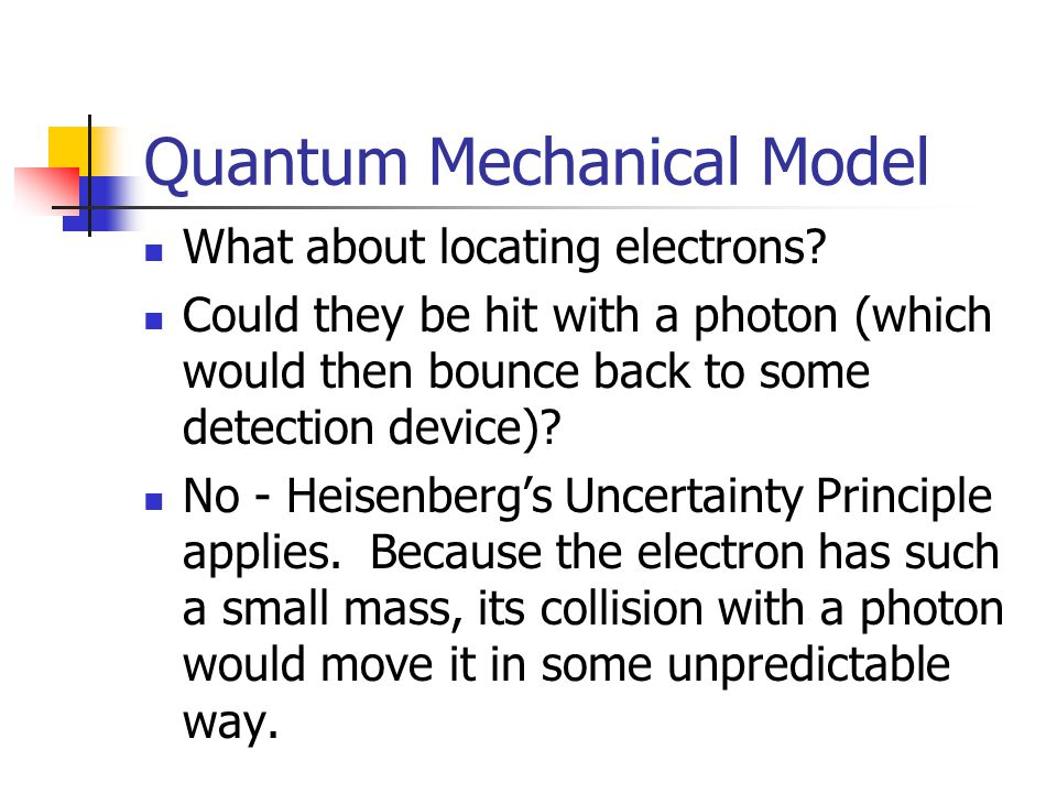 Quantum Mechanical Model What about locating electrons.