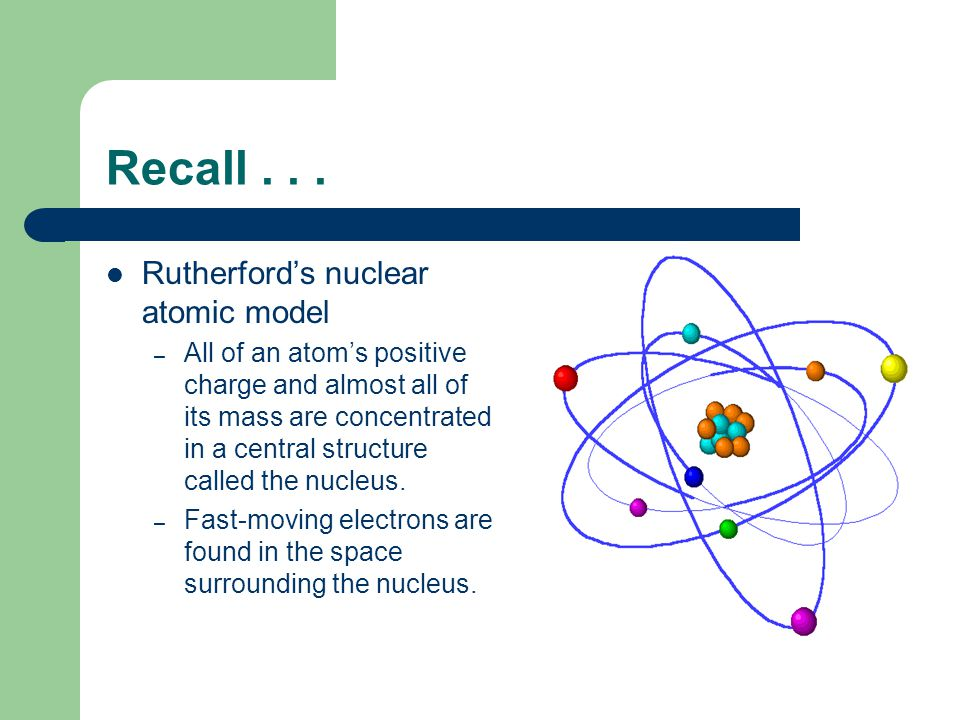 Unanswered Questions Rutherford's atomic model was incomplete.