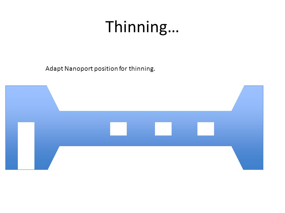 Thinning… Adapt Nanoport position for thinning.
