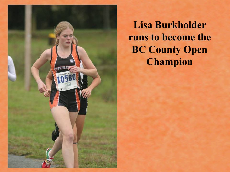 Lisa Burkholder runs to become the BC County Open Champion