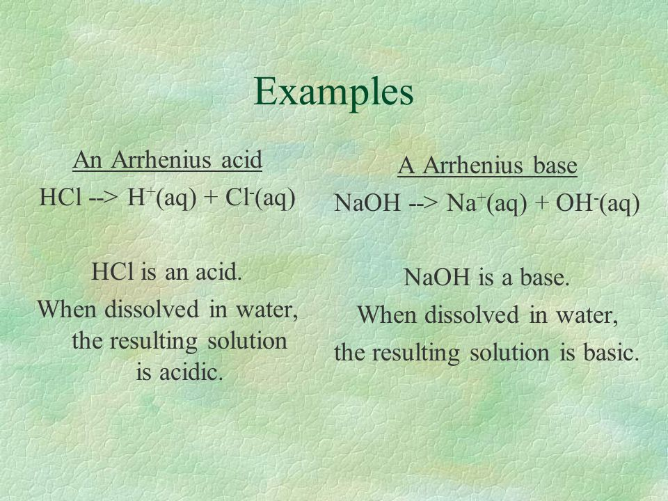 Water §Water (& other substances) that can act as both an acid & a base are said to be amphoteric.