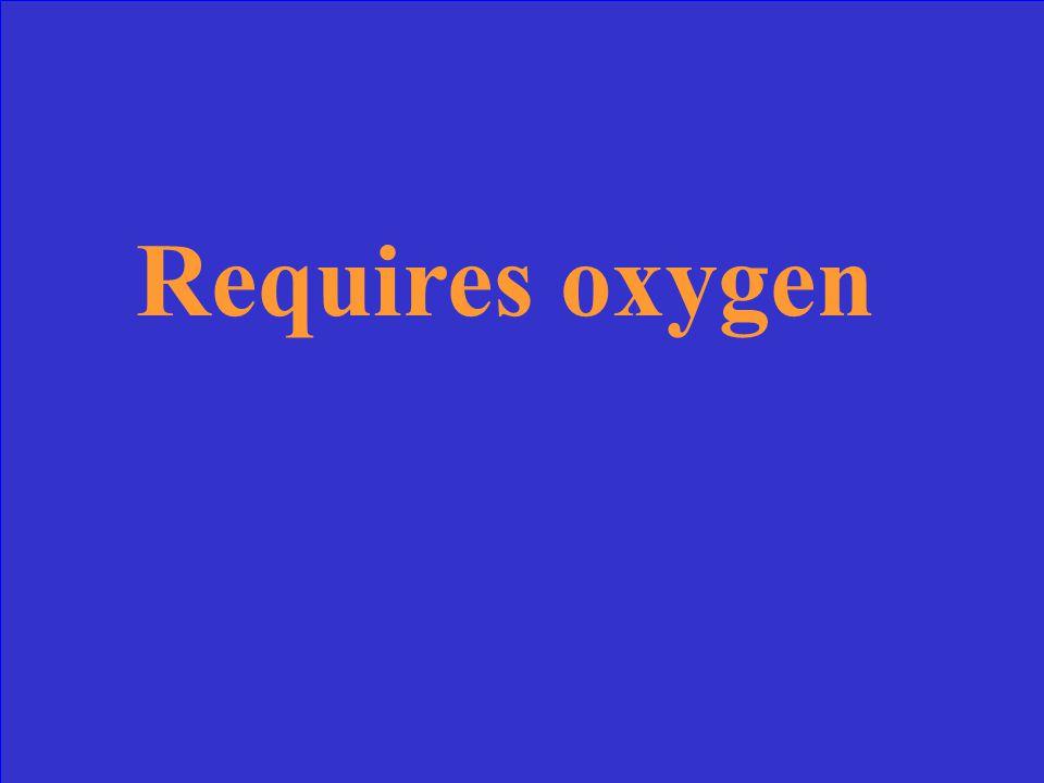 Requires oxygen