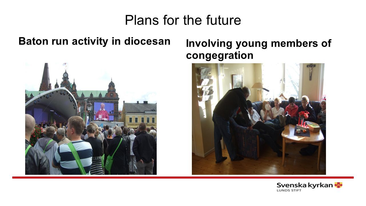 Plans for the future Baton run activity in diocesan Involving young members of congegration