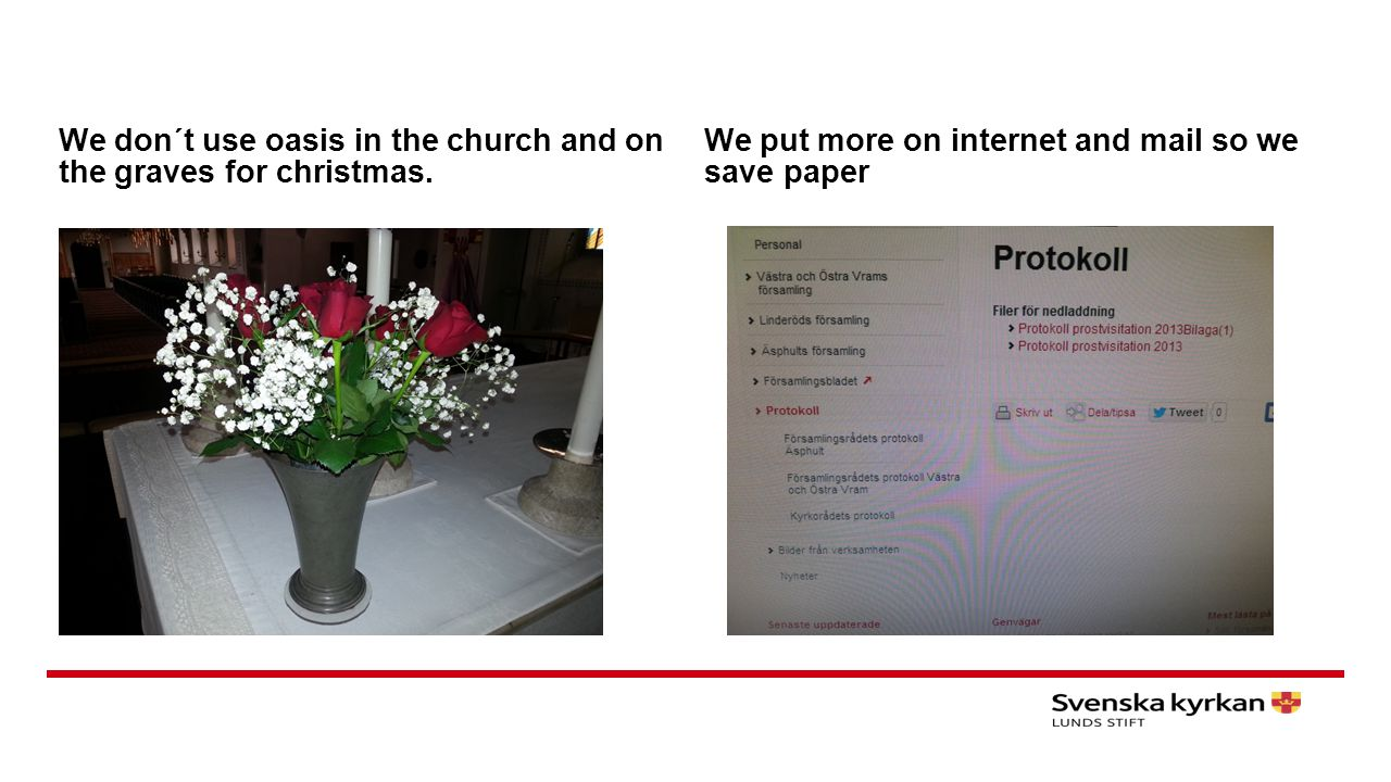 We don´t use oasis in the church and on the graves for christmas.