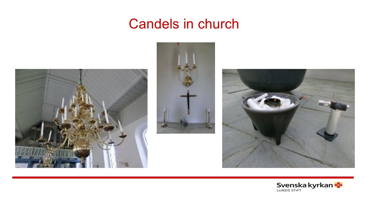 Candels in church