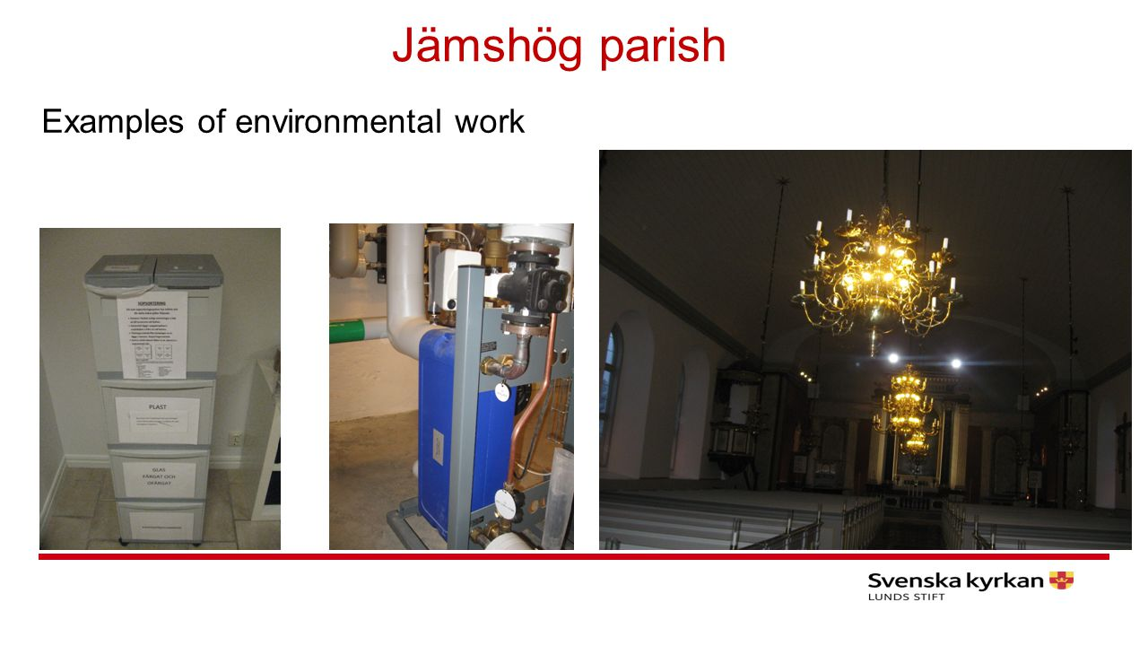 Jämshög parish Examples of environmental work