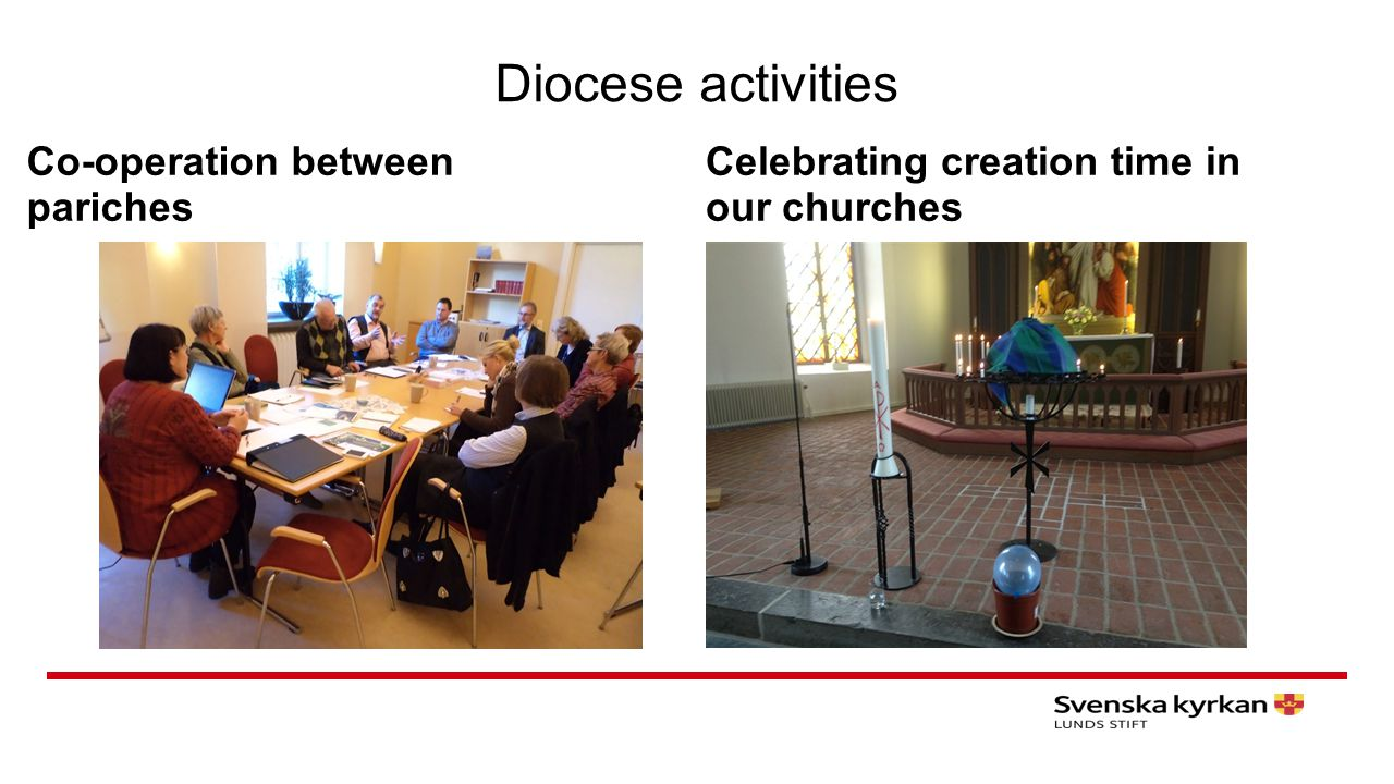 Diocese activities Co-operation between pariches Celebrating creation time in our churches
