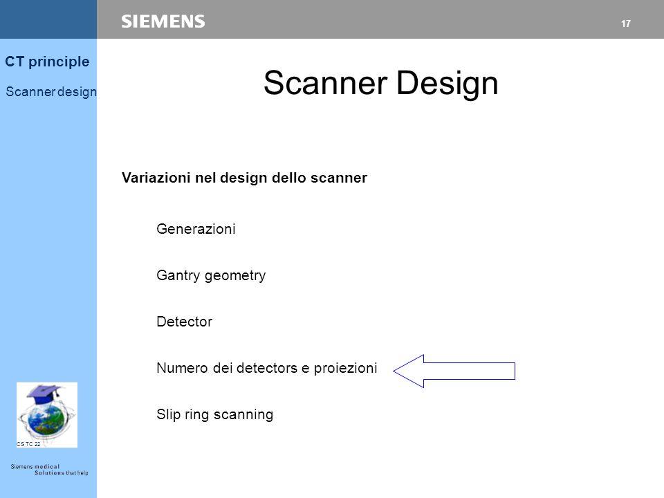 16 CT principle Scanner design CS TC 22 Xenon vs Solid State