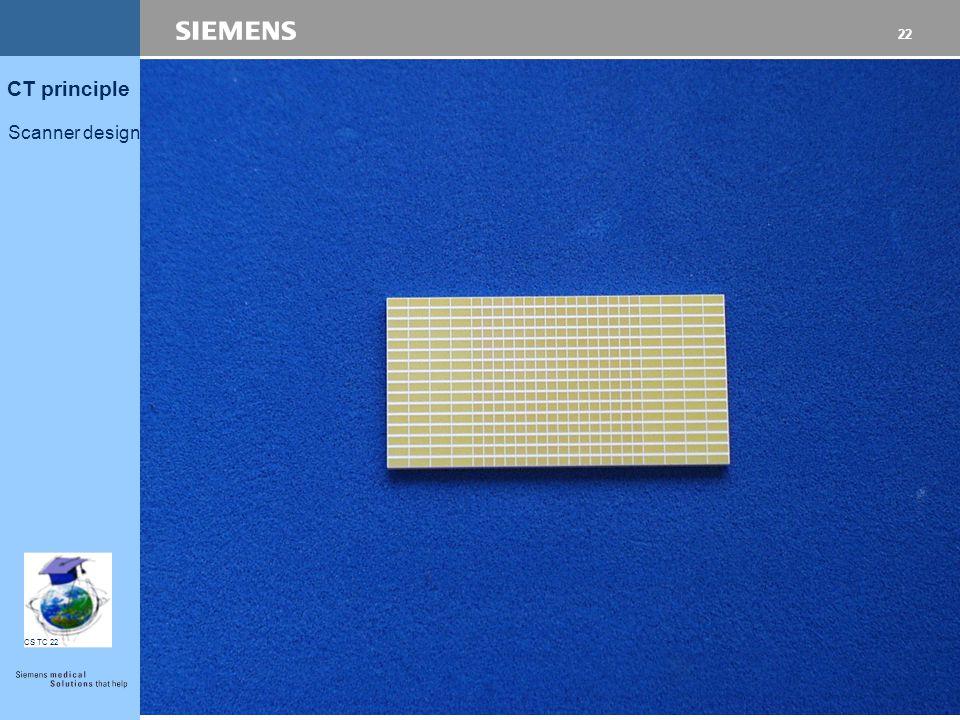 21 CT principle Scanner design CS TC 22 Numero dei detectors e rows
