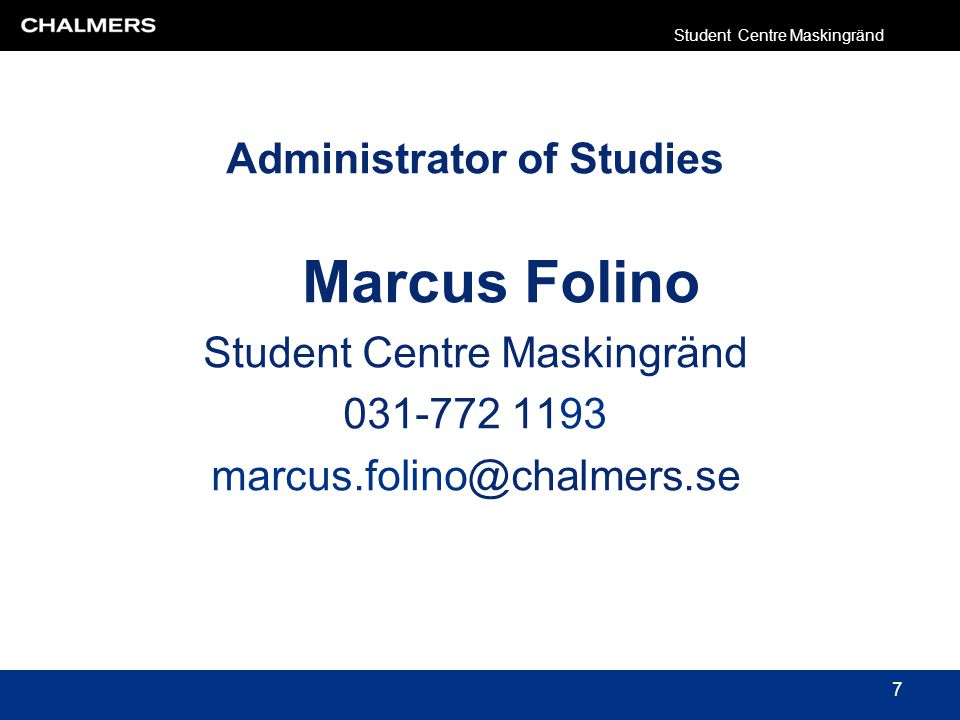 Student Centre Maskingränd 38