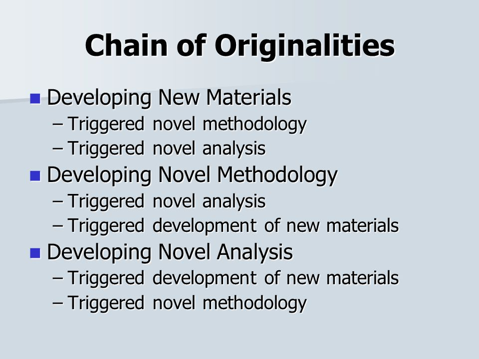 Initiating Research Chain of Originality of research forms a cycle Chain of Originality of research forms a cycle Cutting in every points will create another originality Cutting in every points will create another originality Where to start.