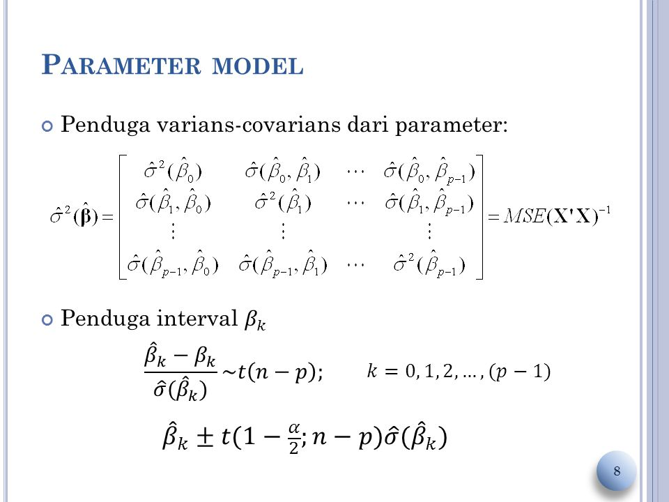 P ARAMETER MODEL 8