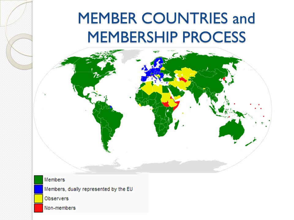 MEMBER COUNTRIES and MEMBERSHIP PROCESS