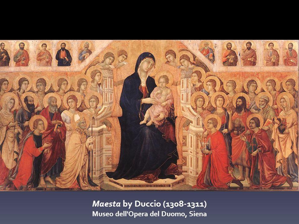 Maesta by Duccio (1308-1311) Museo dell Opera del Duomo, Siena